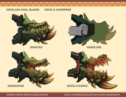 Monster Hunter - Devil's Chompers by OskarKuijken