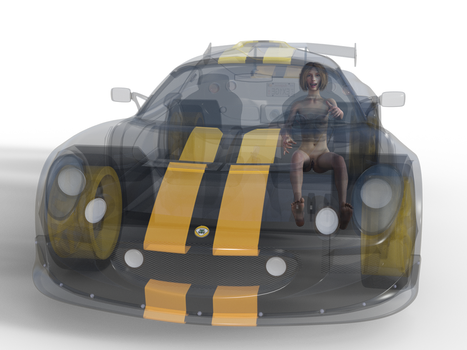 4.052 - Transparent Car 2 by beedoll