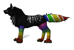 Rainbow Wolf Adopt - CLOSED! by FrostDragon-Adopts