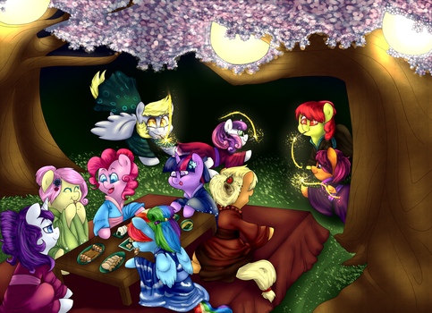 Cherry Blossom Festival [commission] by quindresa
