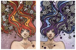 Hairy Metal ACEO cards by HotaruYagami