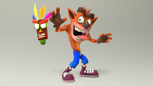 Crash Bandicoot and Aku Aku by TheSmashWaffle