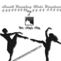 Small Dancing Girls Brushes by MrHighsky