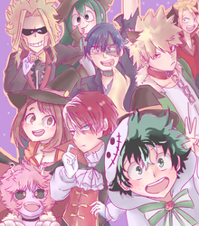 Bnha Halloween by Azurphore