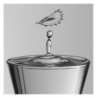 Collision in a shot glass by relhom