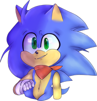 Sonic  by Wade-Doodles