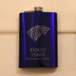 Game of Thrones - House Stark blue flask by Yukizeal