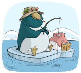 Ice Fishing by cedricstudio