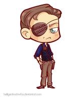 COmmission: The Walking Chibi Dead #Governor by Blatterbury