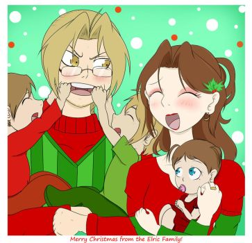 Merry Christmas from the Elric Family! by AnimeEmm