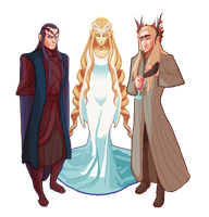 Elven Lords by Art-Calavera
