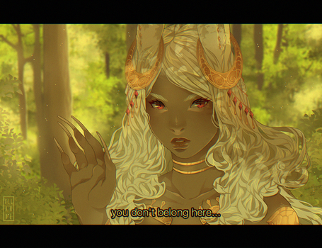 .the woods belong to the viera by Yllande