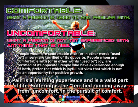 Comfort Is Overrated by paradigm-shifting