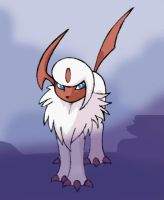 Absol in the mist by sunnyfish