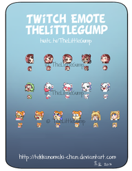 Commission: Twitch emote for TheLittleGump by TekkanoMaki-chan