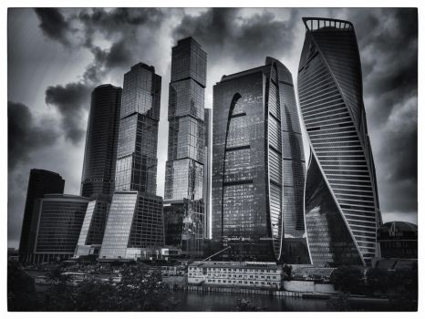 Moscow city variations  by ubinko