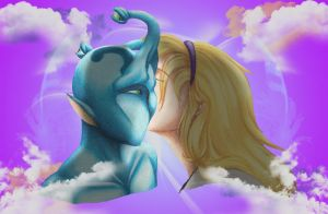 First Kiss: Loren and Elfangor by praxcrown5