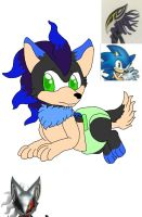 A infinite x Sonic fan baby forCount-Toon # 1 by spiritumiracle