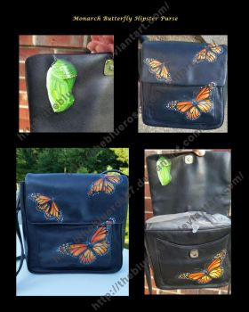Monarch Butterfly Upcycled Hipster Purse by TheBlueRose7
