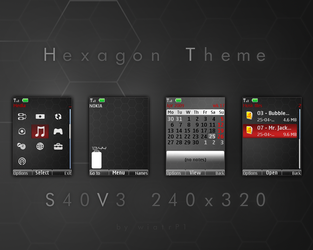 Hexagon theme - S40v3 by wiatrP1