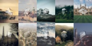 Triangular Polygons Free iPhone 6 Wallpapers Pack by error-23