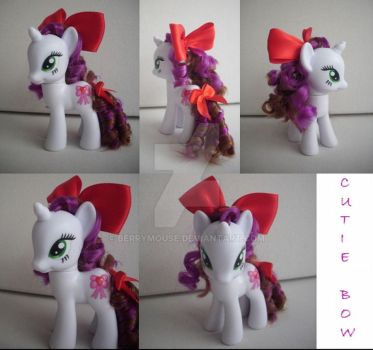 My little Pony Custom G4 Cutie Bow by BerryMouse