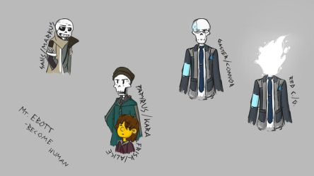 Detroit Become Skeleton by AafterglowEeye