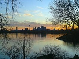Toronto Skyline Sunset by stephtastic14
