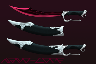 Bloodrazor Scimitar Weapon Auction Adopt (closed) by Nano-Core
