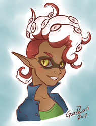 -Splatoon- Octoling OC by Godspoison