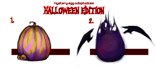 Mystery Egg Adoptables, Halloween Edition ::OPEN:: by jellyflavoured