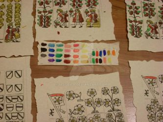 Colouring tests for medieval playing cards. by Iagoba-F