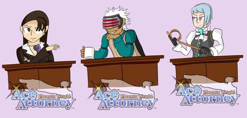Ace attorney Stickers -2 by luxiavideogamer11