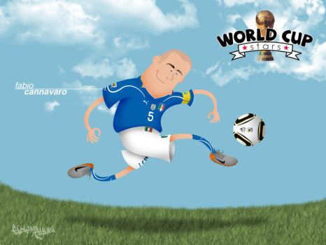 World Cup Stars - Cannavaro by fabiomayumi