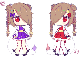 ~Price lowered~ Yanny Twins Adoptable 2 Closed by Seraphy-chan