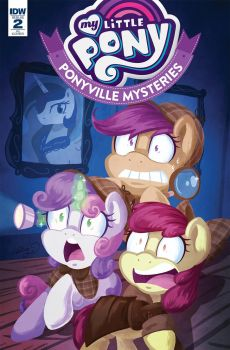 MLP: Ponyville Mysteries #2 RI cover by AbbyStarling