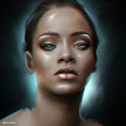 Rihanna - Digital Painting by aLi2k4