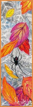 Spider in the Leaves by FamiliarOddlings