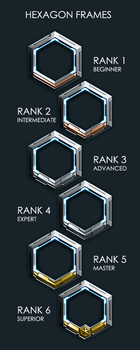 Hexagon Rank Frames by Equiliari