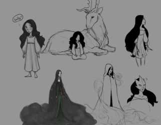 Mother Nature Guardians Concept doodles by Vynndetta