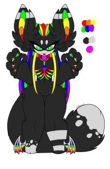 Rainbow Monster adopt! (OTA) by EyelessJack20211