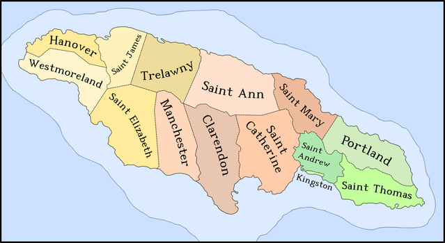 The Parishes of Jamaica by Luis2100PT