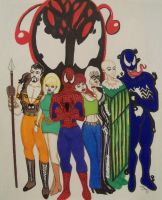 Spidey and Gang by JokerHarley2345