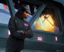 Star Wars Armada: Rae Sloane by Thaldir