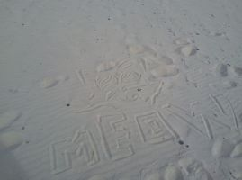 Holiday quick Beach-sand-draw 1. try by marderchen