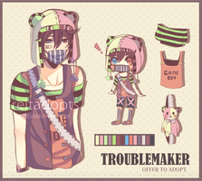 [CLOSED] Troublemaker Adopt #2 by reitadopts