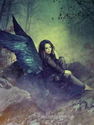 Black angel by SPRSPRsDigitalArt