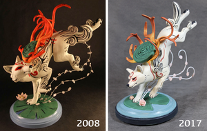 Okami : Then and Now by emilySculpts