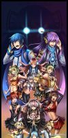 Vocaloid Groupshot by HellyonWhite