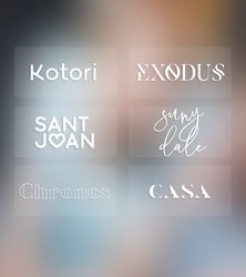 (my) fave fonts by tzxico